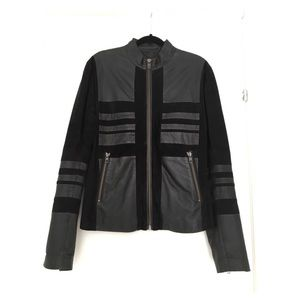 DIESEL BLACK GOLD Suede and Leather Jacket